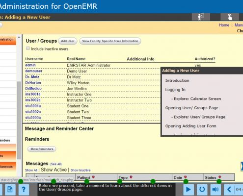 EMR Administration Course Screenshot 4