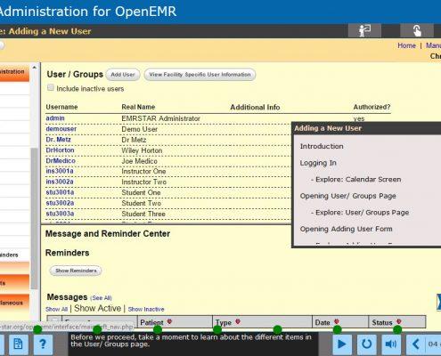 EMR Administration Course Screenshot 4