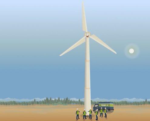 Windmill Installation Video Screenshot 4