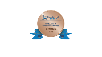 2018 Brandon Hall Group Excellence in Technology Awards – Bronze Winner