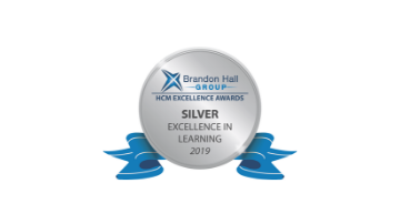 2019 Brandon Hall Group HCM Excellence Awards – Silver Award for Best Advance in Custom Content