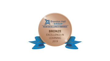 2019 Brandon Hall Group HCM Excellence Awards – Bronze Award for Best Learning Team