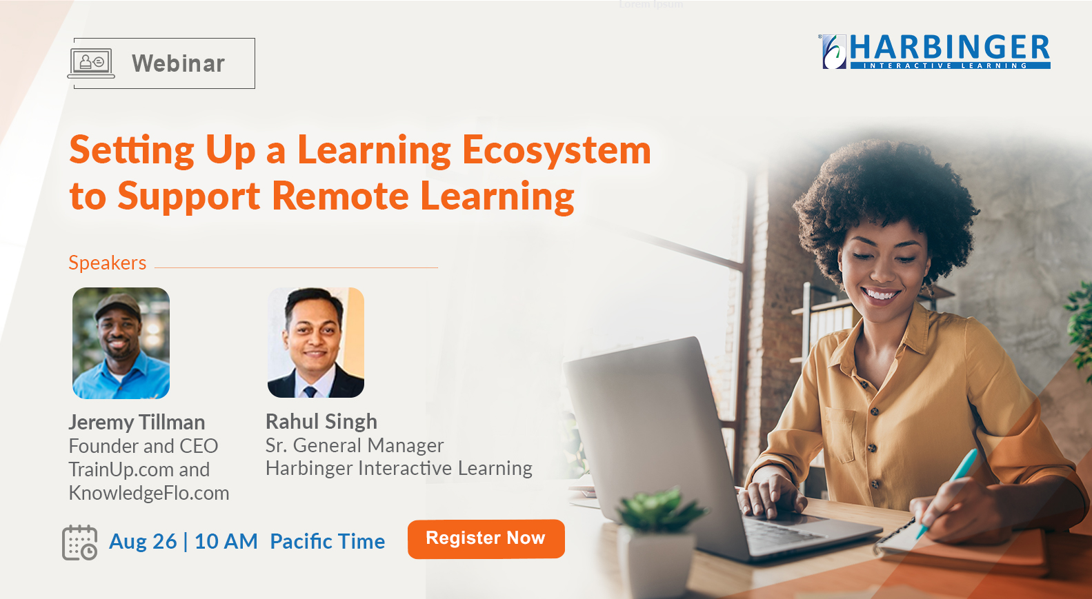 Webinar – Setting Up a Learning Ecosystem to Support Remote Learning