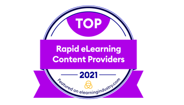 Harbinger Interactive Learning Recognized as One of the Top Content Providers for Rapid eLearning for 2021 by eLearning Industry