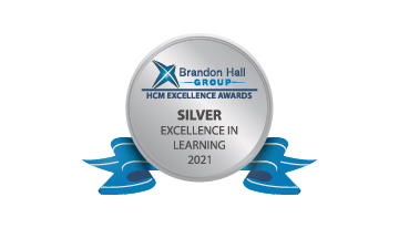 2021 Brandon Hall Group HCM Excellence Awards – Silver Award for Best Use of Video for Learning