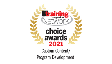 Harbinger Interactive Learning won the prestigious Training Magazine Network Choice Award 2021 for outstanding training products and solutions in Custom Content/Program Development category.
